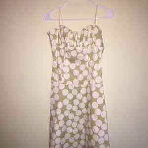 Polka Dot Mint Green Summer Dress - Size 7